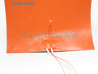 3D Printer Accessories 12V 280W 300 300mm Flexible Silicone Heating Bed Heating Element With 100k Thermistors