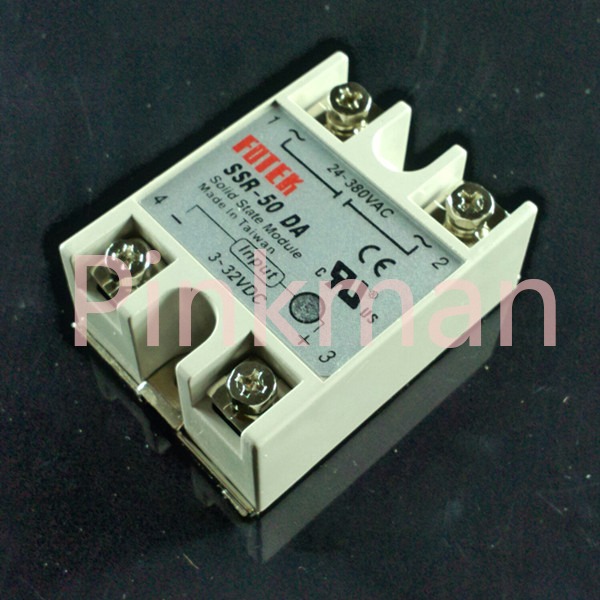 1 pc FOTEK 50DA  Solid State Relay  SSR  Single Phase DC-AC ssr 40da single phase solid state relay white silver