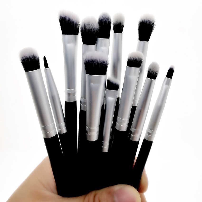 Sylyne 18 sztuk pędzle do makijażu profesjonalny zestaw pędzli do makijażu włosy syntetyczne twarz i oczy czarny zestaw pędzli do makijażu zestaw narzędzi.