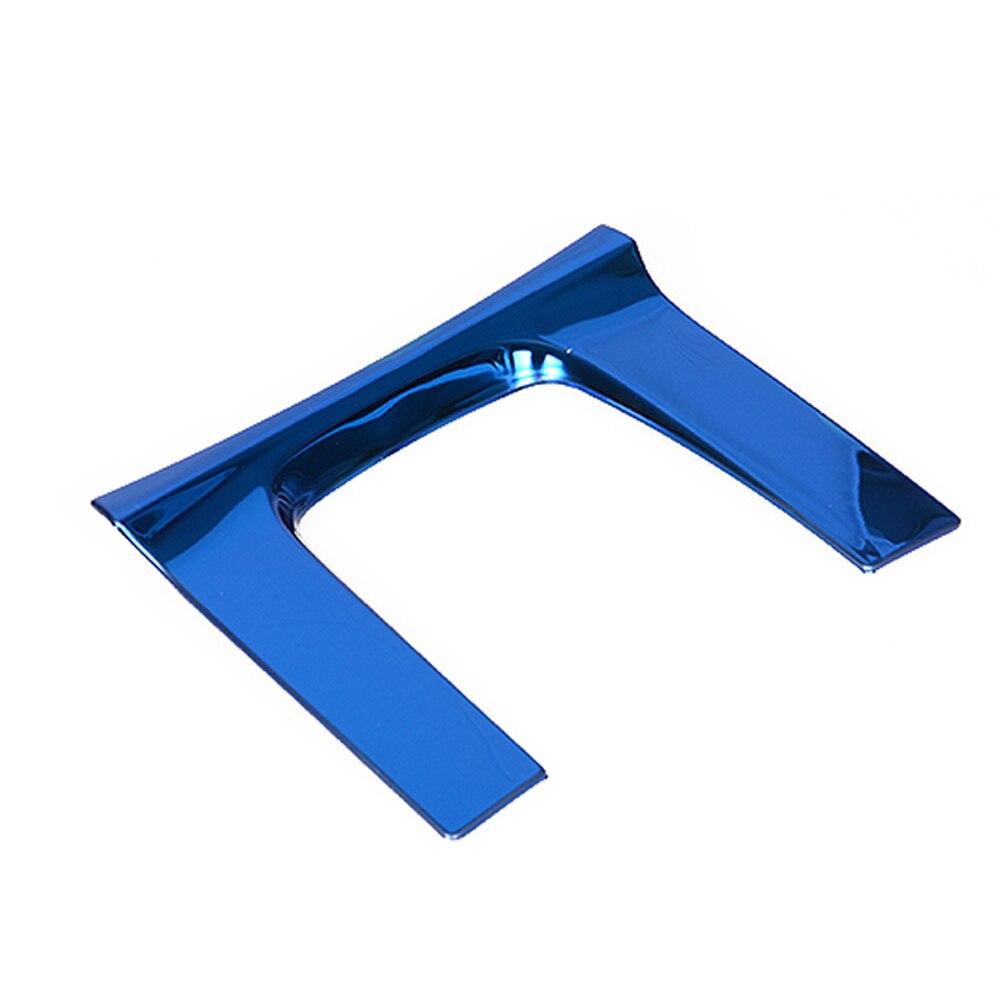 Автомобильные аксессуары панельная Накладка для коробки передач наклейка Накладка для Honda CIVIC интерьер из нержавеющей стали автомобиль-Стайлинг - Название цвета: Синий