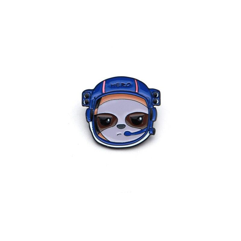Objective Cartoon Animals Brown Bear Astronaut Badge Enamel Pin For Denim Jacket Oil Drop Collar Corsage Accessories Scarf Buckle Sc4114 Apparel Sewing & Fabric Home & Garden