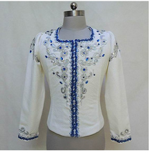 Man Dancewear Boy Tunic Ballet Performance Coat Custom-made Service White Color MT003A