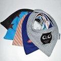 5 pçs/lote Bibs Do Bebê Para O Menino & Menina Bandana Bandana Do Bebê Babadores Burp Cloths Infantil Camadas Duplas 100% Algodão Infantil Bib absorvente