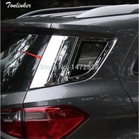 2 PCS Car NEW ABS Chrome Decorative Lights Rear Window Frame Case For Ford The 2013