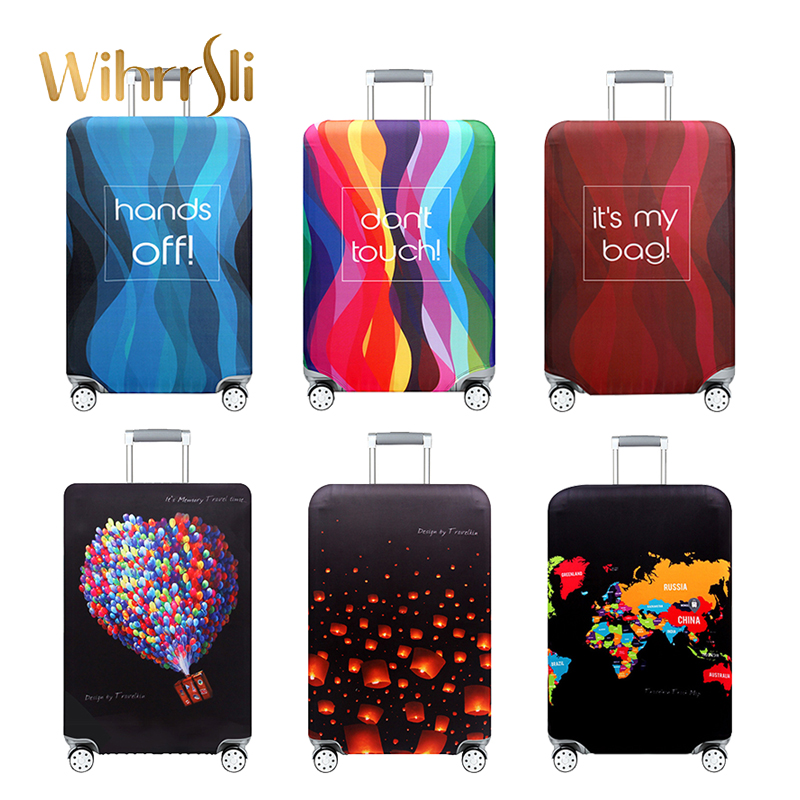 Diverse styles Travel accessories Luggage cover case for a suitcase protection dust cover Stretch fabrics <font><b>organizers</b></font> Trolley image
