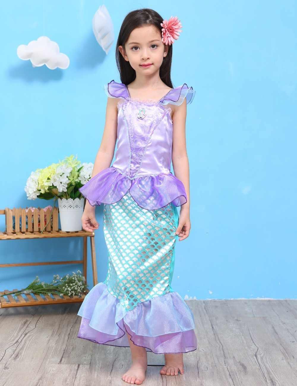 Disfraz De Cosplay Para Niñas Princesa Ariel Niña La