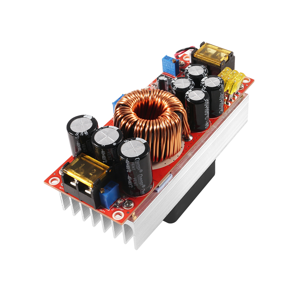 1800W 40A CC CV Boost Converter DC DC Step Up Power Supply Adjustable Module DC 10V 60V to 12V 90V DIY kit Electric Unit Modules-in Inverters & Converters from Home Improvement