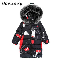 Girls Coats Winter Jackets For Girls Coat Children Clothing Girls Jackets Long Sleeve Kids Outerwear Fur Hooded Thick Girls Coat