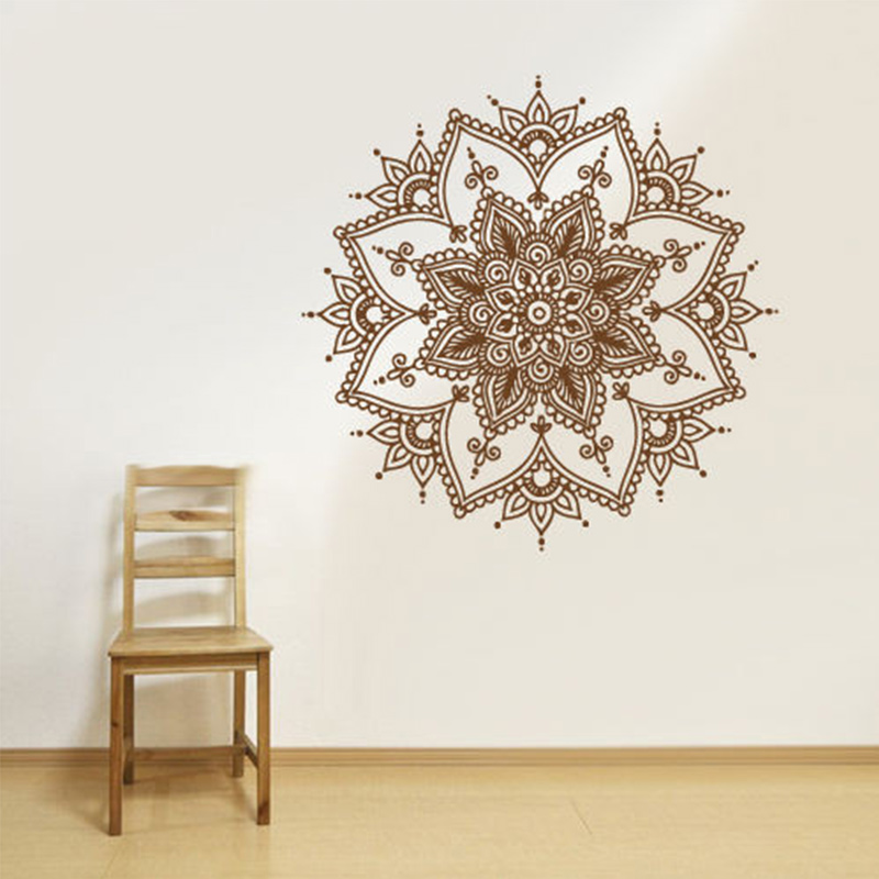 new wall decal vinyl sticker mandala menhdi flower om indian hindu