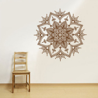 New Wall Decal Vinyl Sticker Mandala Menhdi Flower Om Indian Hindu Buddha 22x22inch