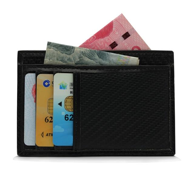 1pcs Carbon Fiber And Name Card Holder Id Card Credit Card