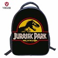 VIIGER Animal Jurassic Park Dinosaur Nylon School Bags Backpack Women Printing Backpacks for Teenage Girls Kids Boy Children Bag