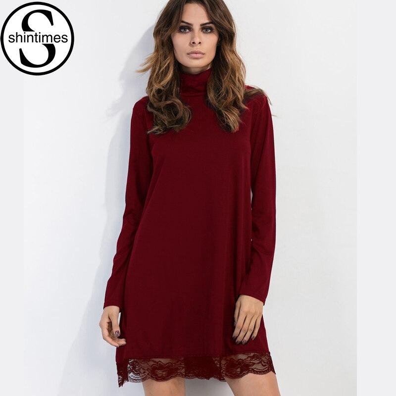 Платье из трикотажа красное большой размер