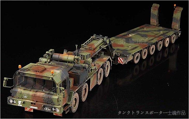 1/35 Modèle D'assemblage Militaire Allemagne 56 Tonnes Réservoir De L'éléphant Véhicule de Transport Modèle 00203