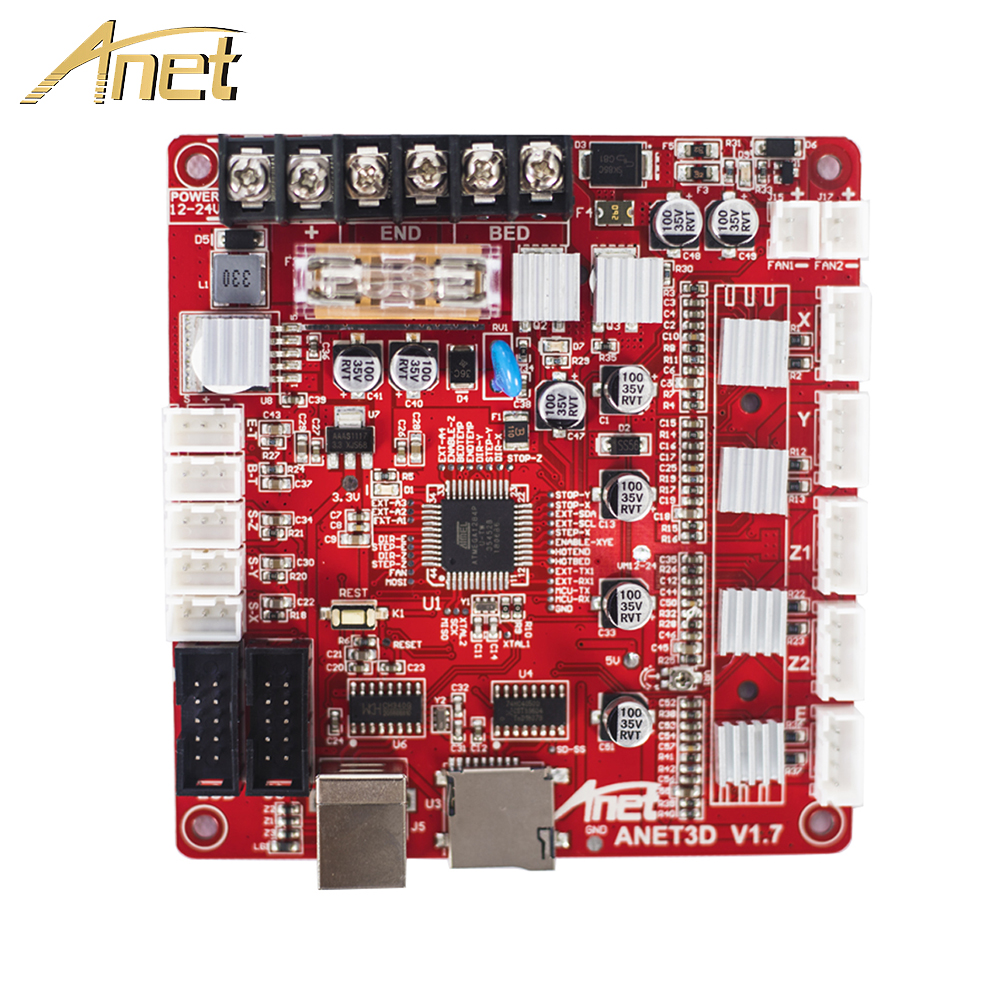 1PCS Anet 3D Printer Control Board For Anet A8 & A6 & A3 & A2 3D Printer Reprap I3 3D Printer Parts Mother Board 4 Colors