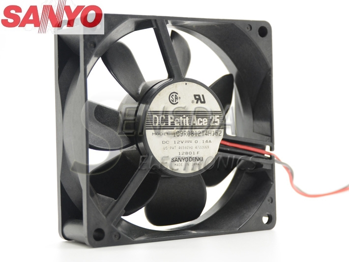 sanyo 109R0812T4H152 8025 8cm 80mm 12V 0.14A 2-wire server inverter cooling fan new original sanyo 9gl0812p1k05 12v 1 8a 80 80 38mm 8cm computer server cooling fan