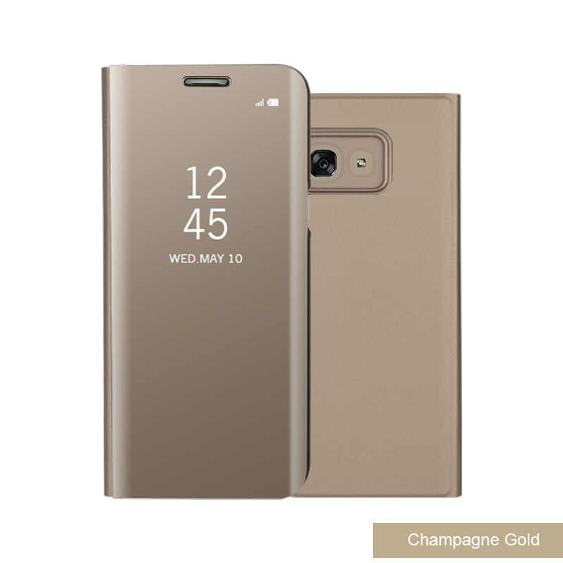 Mới Cho Samsung Galaxy S9 S8 Cộng Với S6 S7 Cạnh Lưu Ý 8 Thông Minh Rõ Ràng Gương Xem Trường Hợp Cho A3 A5 a7 J3 J5 J7 2017 Lật Đứng Bìa