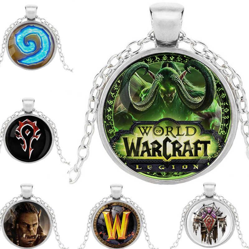 Wow Game World Of Warcraft Kalung Suku Emblem Simbol Torsi Film Gambar Aliansi Gerombolan Banner Bendera Logo Kubah Kaca Liontin