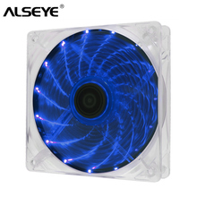 купить ALSEYE 120mm Fan 4pin PWM LED PC Cooling Fan for CPU Cooler Blue and Red Light Quiet Fans по цене 576.81 рублей