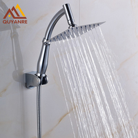 Free Shipping Wall Mounted Chrome Finish Showerhead Arm Hose Handshower Holder