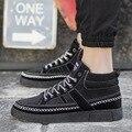 Мужской плюс размер высокое качество платформа тренер мужская мода черный улица ходьбы обувь zapatos хомбре досуг зашнуровать обувь