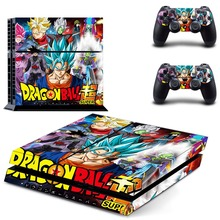 Anime Dragon Ball Super Broly Goku PS4 Skin Sticker Decal For PlayStation 4 Console and 2 Controllers PS4 Skin Sticker Vinyl