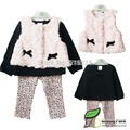 2017 Retail new style baby girl's set spring autumn winter clothing set tops+pans+vest kids clothes sets baby girl clothes