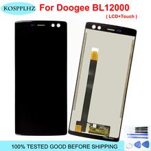 Dla 6 0 Doogee BL12000 wyświetlacz LCD ekran dotykowy Digitizer zgromadzenie bL 12000 Doogee BL12000 Pro LCD czarny niebieski części zamienne tanie tanio KOSPPLHZ Pojemnościowy ekran 2160*1080 3 For doogee bl12000 Black blue foam box 6inches