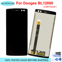 For 6.0 Doogee BL12000 LCD Display Touch Screen Digitizer Assembly bL 12000 Doogee BL12000 Pro LCD Black/Blue Replacement Parts