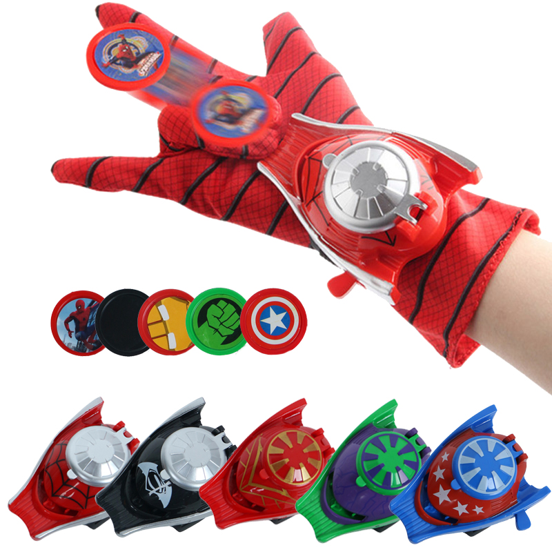 Glove Laucher <font><b>For</b></font> Super Heroes Action Figure Props Cosplay Captain American Spider Man Hulk <font><b>Cool</b></font> <font><b>Toy</b></font> Launcher <font><b>For</b></font> <font><b>Kid</b></font> Gants image