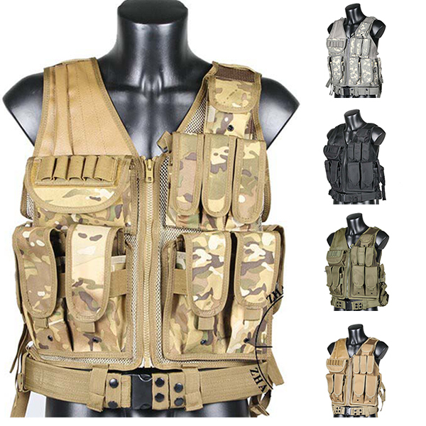 Tactical vest chaleco swat 5 colors Camouflage amphibious High quality cs Counterterrorism Military Protective Training combat