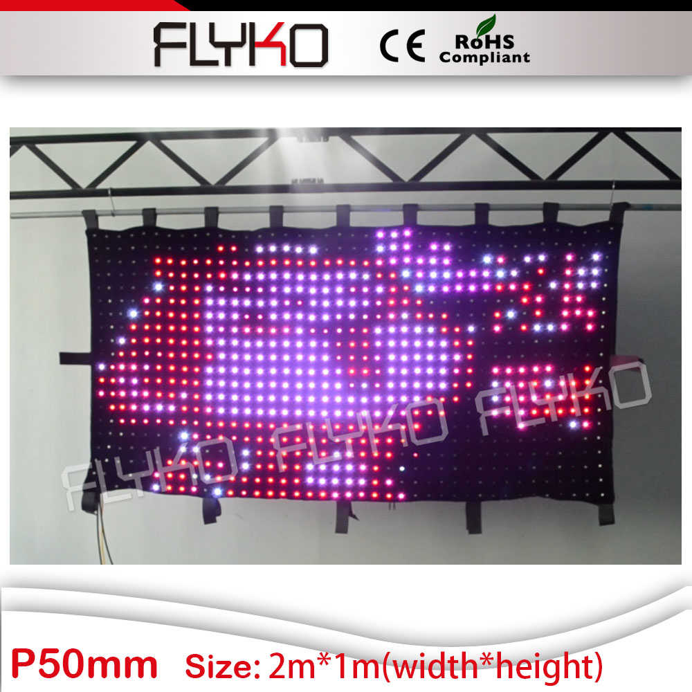 2016 new product chrismas decoration p5 led video curtain free shipping