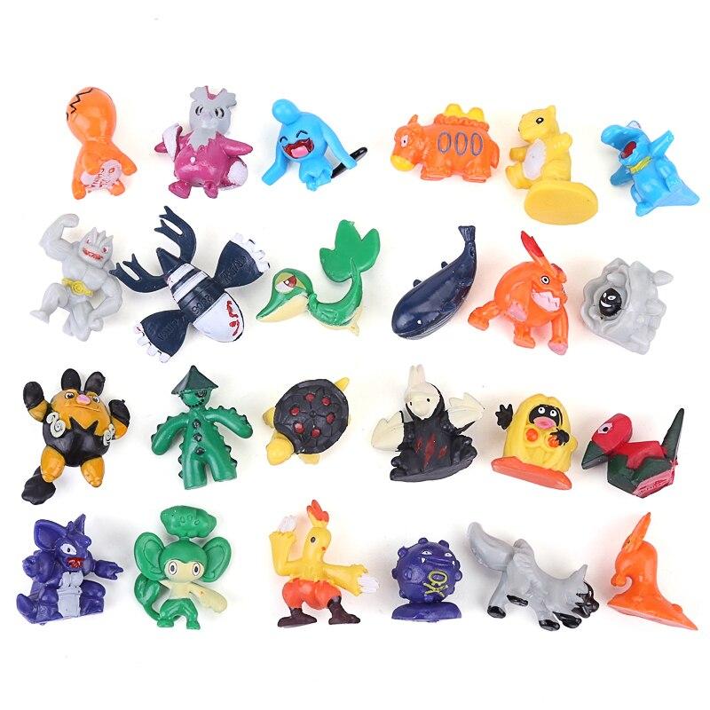144 pçs não repetir pikachu figura de ação pokemon charizard estatuetas japonês bolso monstro brinquedos para crianças 2-3cm