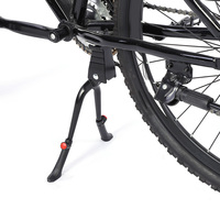 Center Mount Double Leg Parking Rack Bike Kickstand Adjust Height fits most 24 28 inch Bicycle