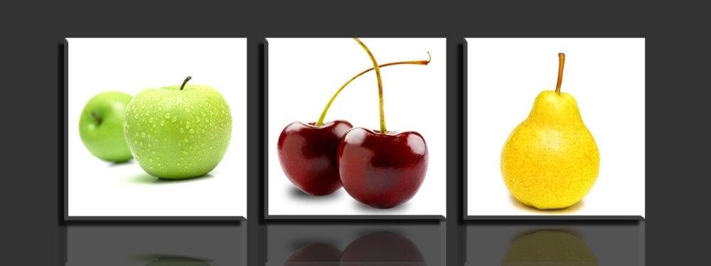 3 Panels Apfel Und Birnen Wand Leinwandbilder Fur Wohnzimmer Bestbewertet  Wohnkultur Modularen HD Malerei