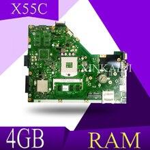 XinKaidi X55C 4 Гб Оперативная память памяти Материнская плата Asus X55C X55CR X55V X55VD Материнская плата ноутбука DDR3 60-N0OMB1100-C01 100% Тесты