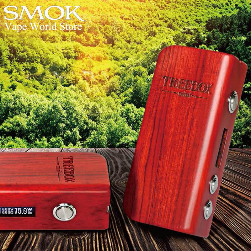 Electronic Cigarette Mods Vape Box Mod SMOK Treebox 75W TC Mod for 510 thread Atomizer VS iStick Pico eVic VTC Mini S082 10pcs non skid mod silicone ring electronic cigarette silicon vape ring for mechanical mod