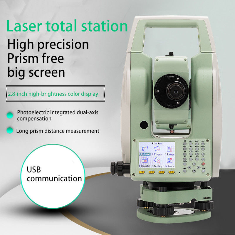 Nouvelle Station totale sans réflecteur à écran couleur LETER ATS-120A