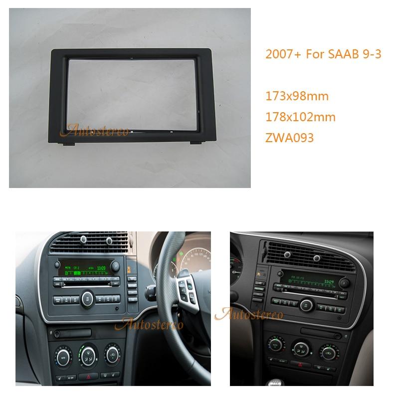 2-DIN Car Radio Fascia Audio Dash For SAAB 9-3 2007+ Stereo Plate Fascia Dash CD Installation Panel Trim 11-093 недорого
