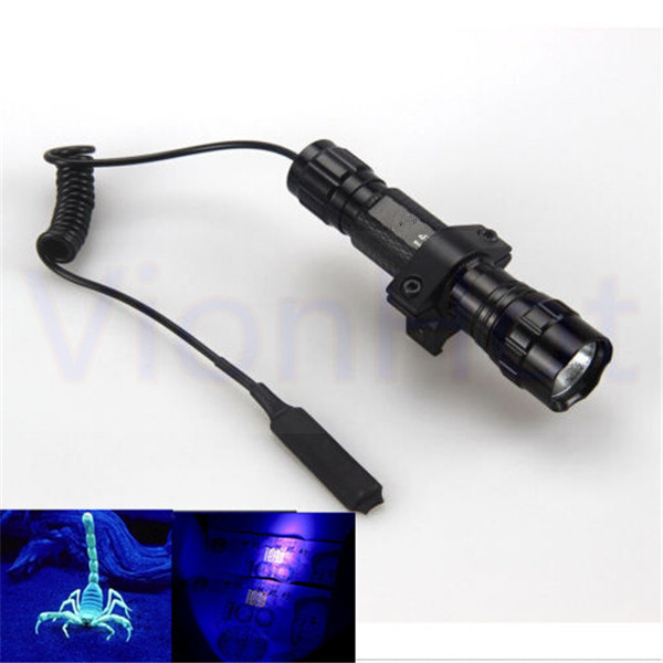 Tactical Flashlight 1 Mode 300 Lumen Ultraviolet UV Light 501B LED ...