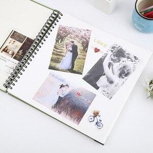 Image 3 - Película autoadhesiva DIY foto de libro de recuerdos álbum regalos del Día de San Valentín invitados de boda artesanía de libros papel aniversario recuerdo de viaje álbum