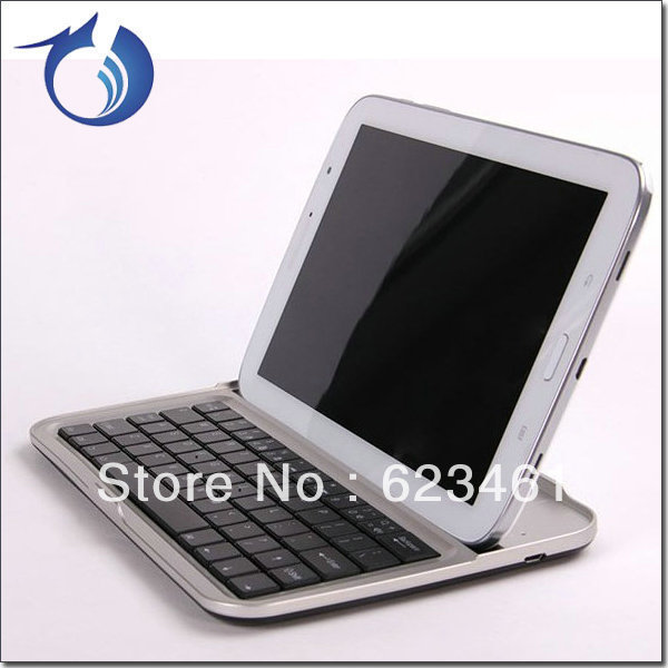 Aluminum alloy wireless bluetooth keyboard case for samsung n5100 free shipping