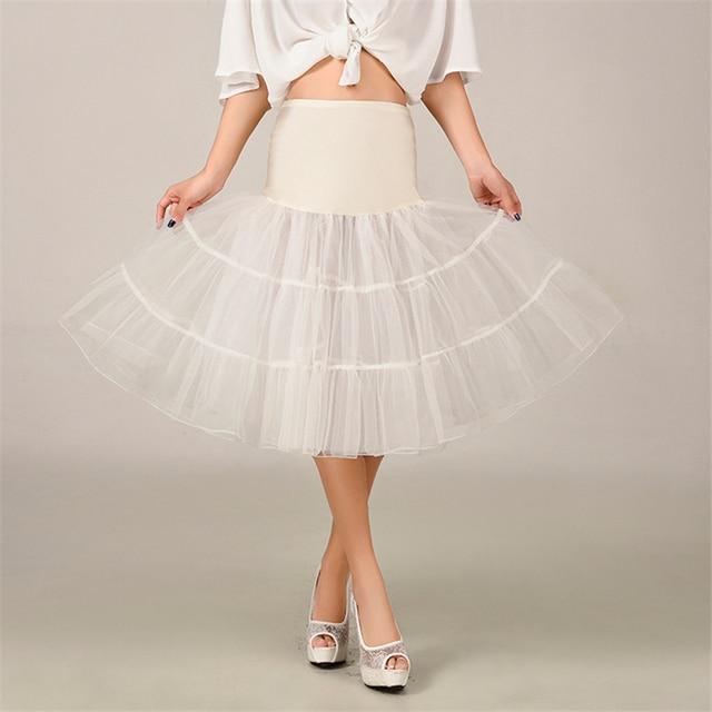 2020 Spring Cosplay Petticoat Woman Underskirt 65CM Length Knee Short For Wedding Petticoat 3 Layers Puffy Organza Evening Tutu 3