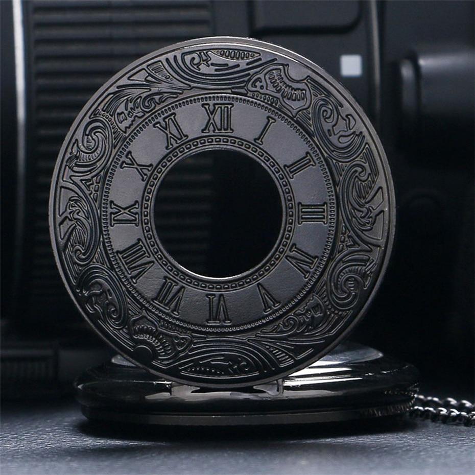 quartzo roda colar corrente relógio pingente presentes