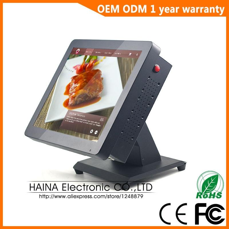 Хайна touch 15 дюймов из металла Сенсорный экран Ресторан POS Системы, все в одном ПК PO ...