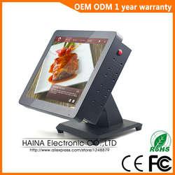 Хайна Touch 15 дюймов Металл сенсорный экран Ресторан Pos системы, все в одном ПК POS машины