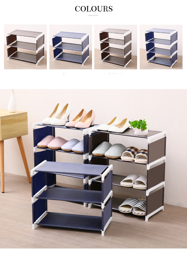 Shoe Rack Organizer 4 Layers Stand Rack Solid Shelves Room Modern Storage