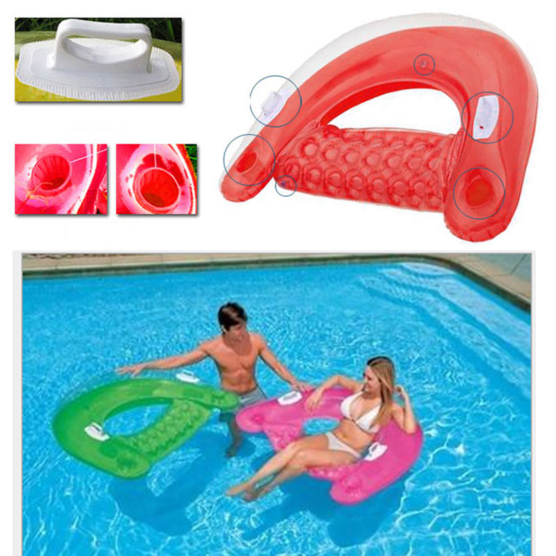 Sit Float Inflatable Lounge 60 X 39 1 Pack Orange Green Colors Random assorted colors tagboard 18 x 12 blue canary green orange pink 100 pack