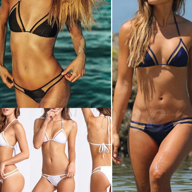 Sexy Women THINKTHENDO Bandage Bikini Set Push-up Padded Bra Bathing Suit Swimsuit Swimwear