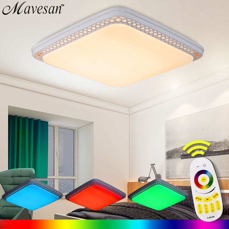 Remote Ceiling Light RGB controler Smart circular Lampshade Modern led lamparas for living room 36W for 15-20square meters home